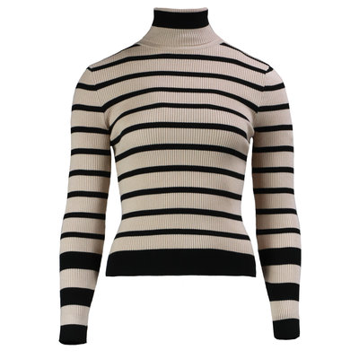 JAIMY Amy striped col top beige