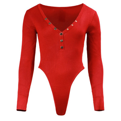 JAIMY Noa button body long sleeve red