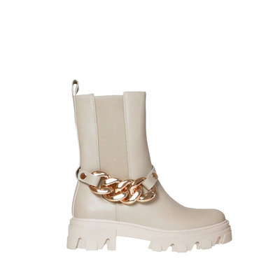 JAIMY The chain chelsea boots beige