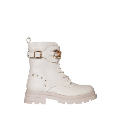 JAIMY Avery chain detail boots beige