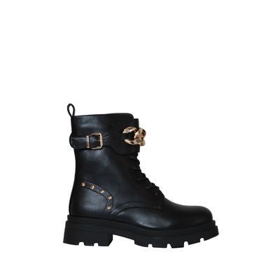 JAIMY Avery chain detail boots black