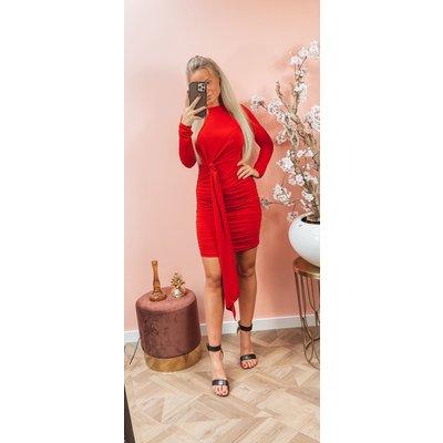 JAIMY Simone travel dress red