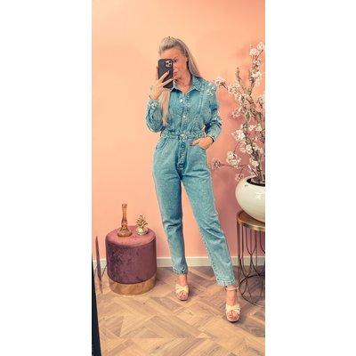 JAIMY On trend denim jumpsuit blue