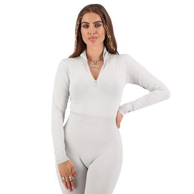REINDERS Body turtleneck zipper long sleeves quiet grey