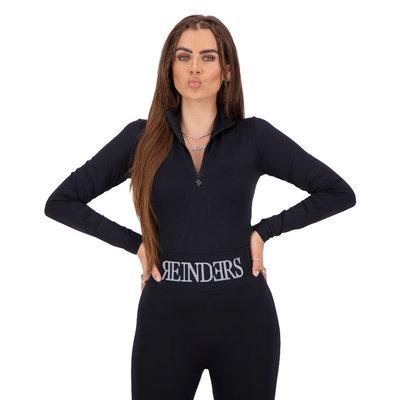 REINDERS Body turtleneck zipper long sleeves true black