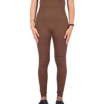 REINDERS Sport legging long Reinders print on knees dark brown