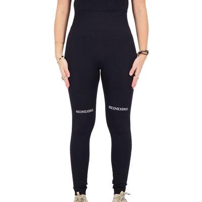 REINDERS Sport legging long Reinders print on knees true black