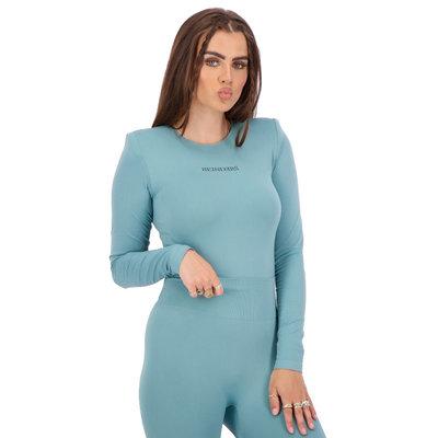 REINDERS Body Reinders shoulder pads long sleeves mineral blue