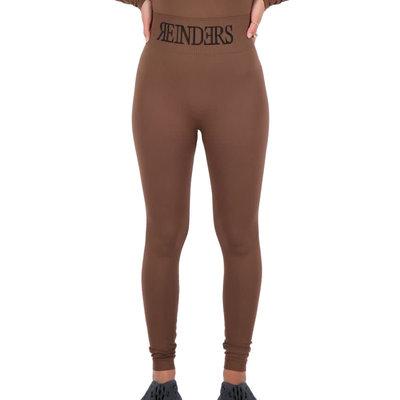 REINDERS Sport legging long Reinders in waist dark brown