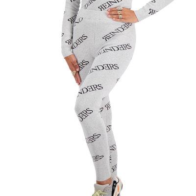 REINDERS Pants all over print quiet grey