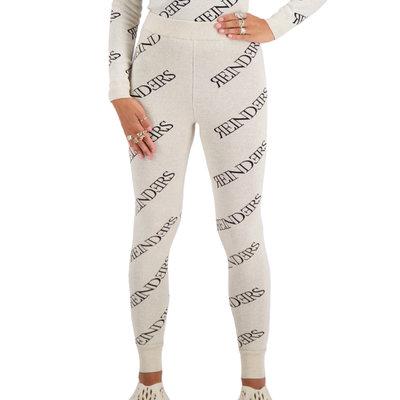 REINDERS Pants all over print creme