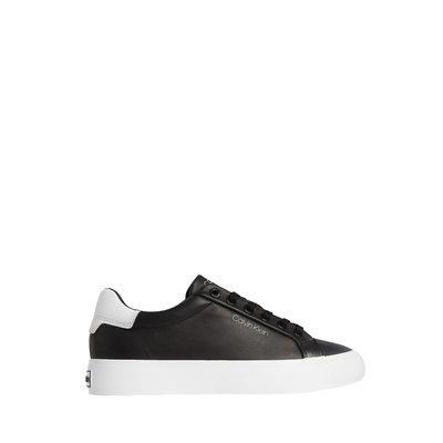 CALVIN KLEIN Lace up sneaker leather black