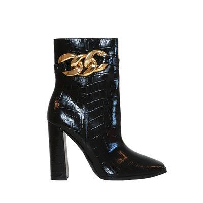 JAIMY Zoe chain detail boots black