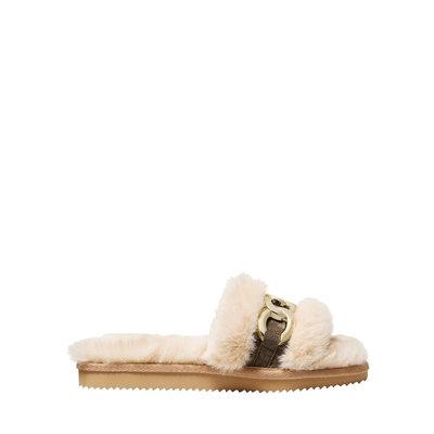 MICHAEL KORS Scarlett slipper Camel multi