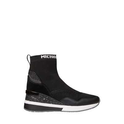 MICHAEL KORS Swift Stretch Knit and Leather Sock Sneaker