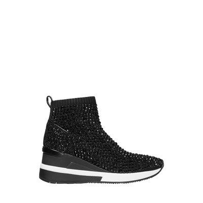 MICHAEL KORS Skyler Crystal Embellished Stretch Knit Sock Sneaker