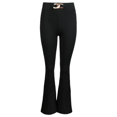 JAIMY Chain detail flared pants black