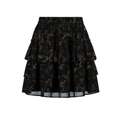 NIKKIE Snake foil skirt black