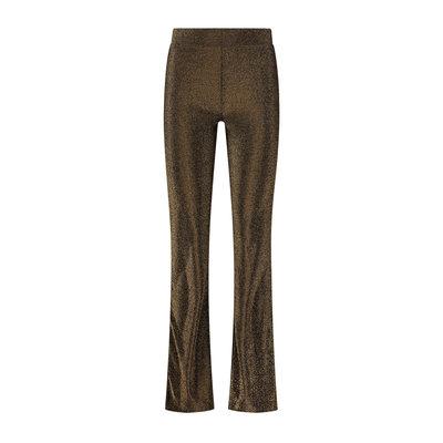 NIKKIE Sparkling flare pants gold