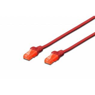 UTP kabel gegoten CAT 6 rood