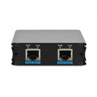 PoE 10/100 Repeater met 1 port in en 2 porten uit
