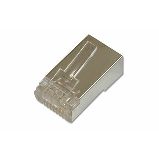 RJ45 plug Cat.5e soepel shielded