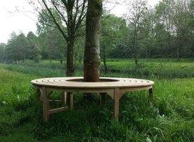 Teak boombank zonder rugleuning 170cm