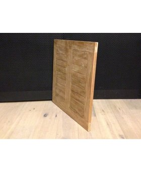 Teak tafelblad 75x75cm