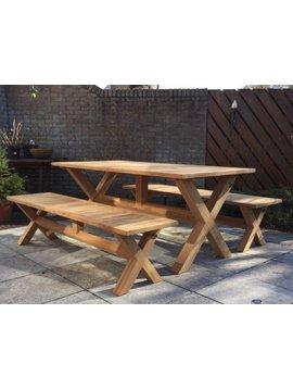 Teak picknicktafel BARI 90x180cm