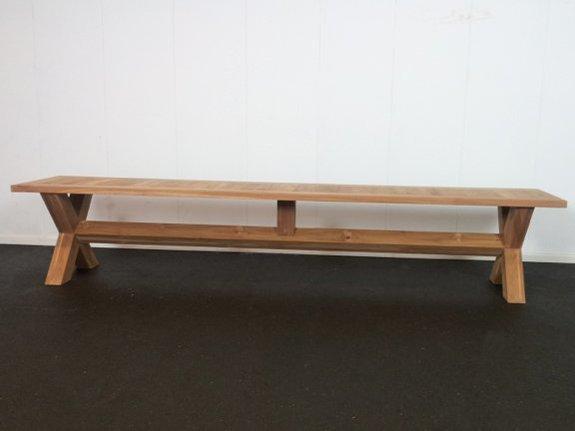 Teak picknick bank 45x240cm