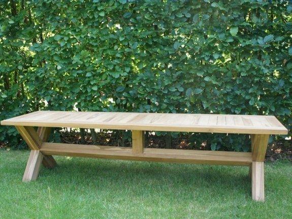 Teak picknick bank 45x180cm