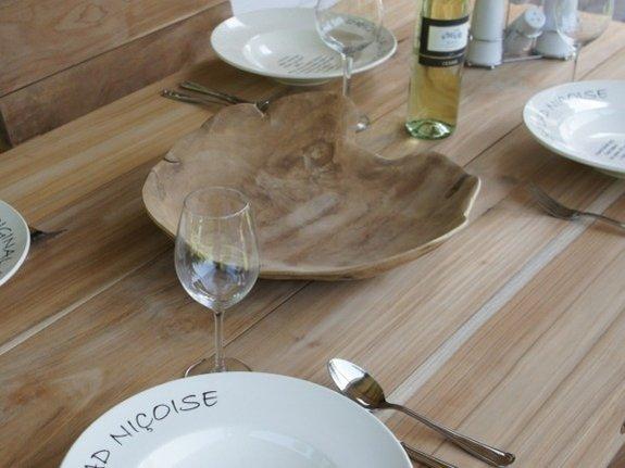 Dunne houten schaal 30cm