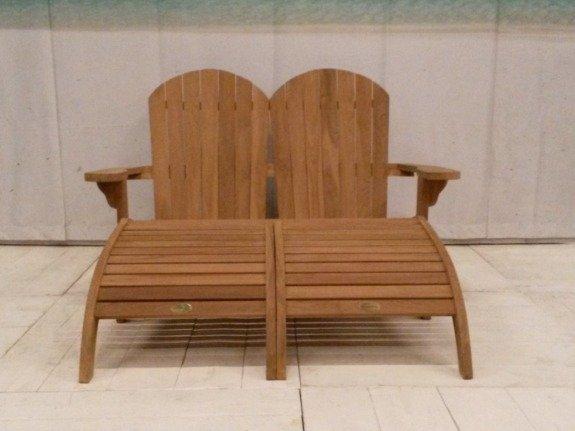 Dubbele ligstoel Riviera met voetenbanken
