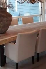 Metalen tafel poot U - 10x10cm  rustiek (per set)