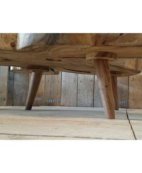 Ronde houten salontafelpoot (per stuk)