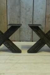 Metalen poot X salontafel - rustiek (per set)
