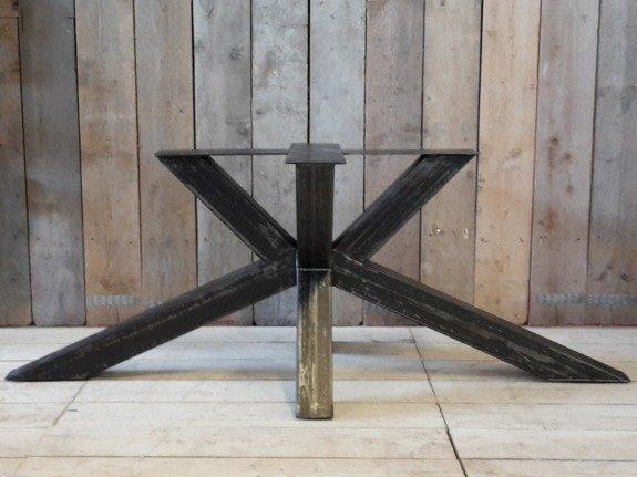 Grote X poot 75x180 - Rustiek