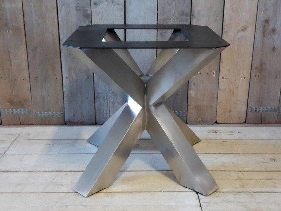 Dubbele X poot - RVS 85cm