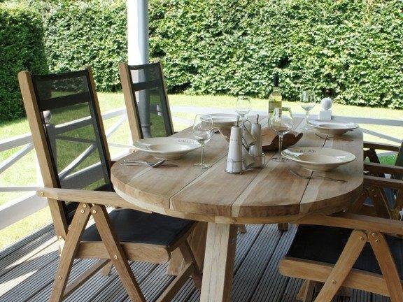 Teak tuinstoel Genova Batyline Zwart