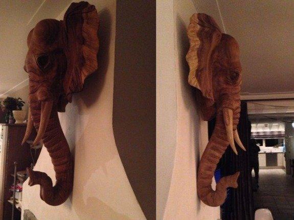 Olifantenkop hout L