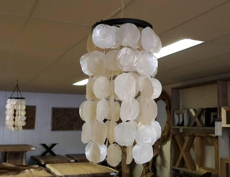 Schelpenlamp wit 20x70cm