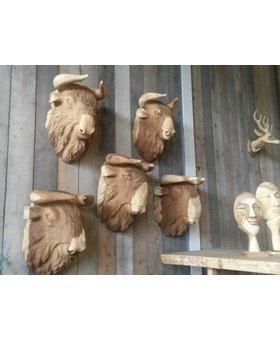 Bizon houtsnijwerk massief
