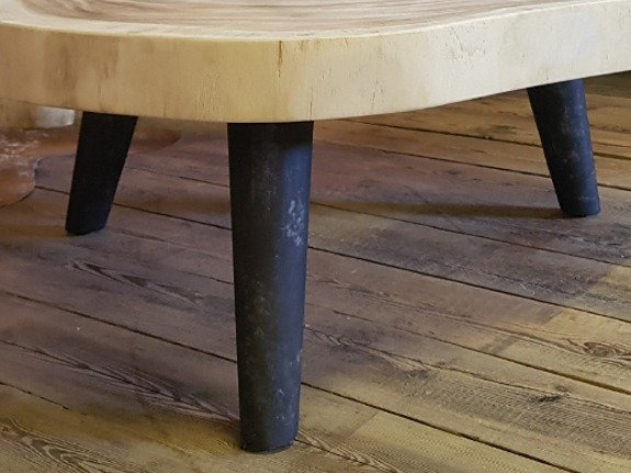 Salontafelpoot metaal rond - rustiek - per stuk