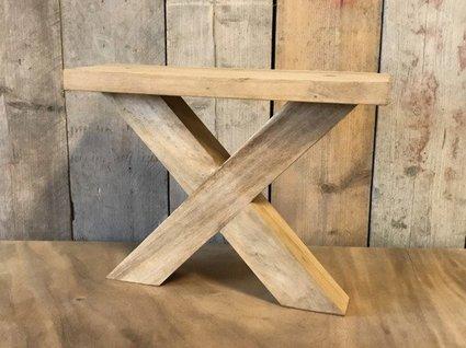 Salontafel poot - hout X 7x7cm (per set)