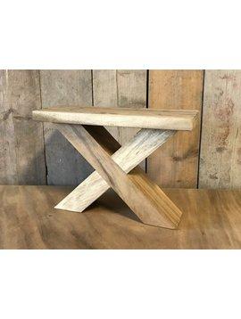 Salontafel poot - hout X 7x12cm (per set)