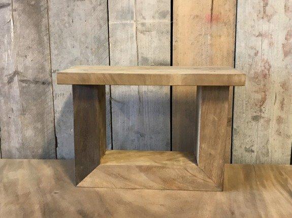 Salontafel poot - hout U 7x12cm (per set)