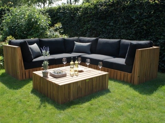 Loungebank Capri linkerhoek