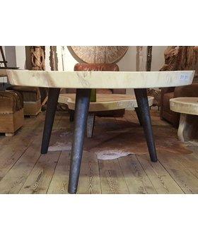 Metalen tafelpoot rond - rustiek - per stuk