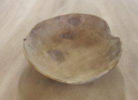 Dunne houten schaal 25cm