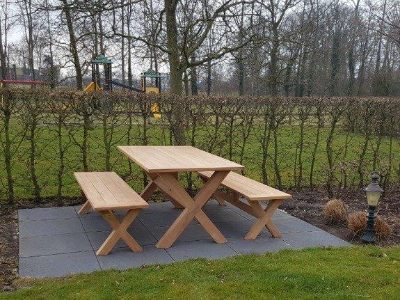Houten picknickset 100x240cm - BARI